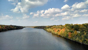 The Mississippi River above the Ford Dam in early autumn (Photo by K. Chapman)