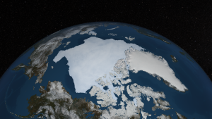 Summer ice cover on the Arctic Ocean in 2013.  Image Japan Aerospace Exploration Agency.