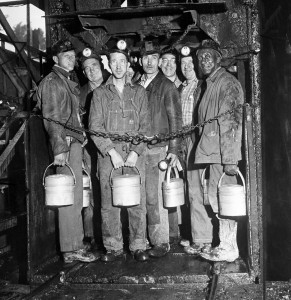 In 1946 when this photo was taken at the Frick coke mine in Pennsylvania, there were 75,000 miners in the state.  Photo Edwin Morgan (Bettmann/Corbis) 1946