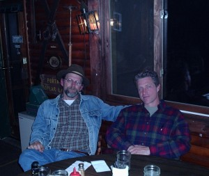 Jim and Kim at Trail Center, Gunflint Trail, Minnesota, when these essays were written.  Photo by helpful waitress.